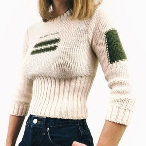 Vintage Polo Ralph Lauren Cropped Pullover Sweater